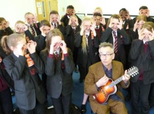 John Hegley at Brakenhale School Berkshire