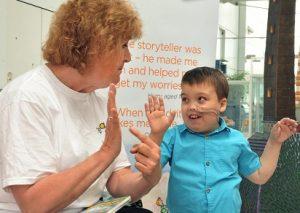 Donate £10 for a storyteller in hospital