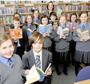 Children with Readathon books