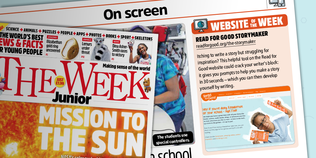 We are The Week Junior's Website of the Week! Get your school buzzing about stories with Readathon